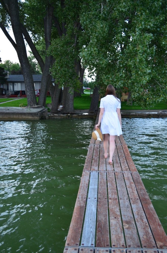Date Night at the Lake: White Dress_0454