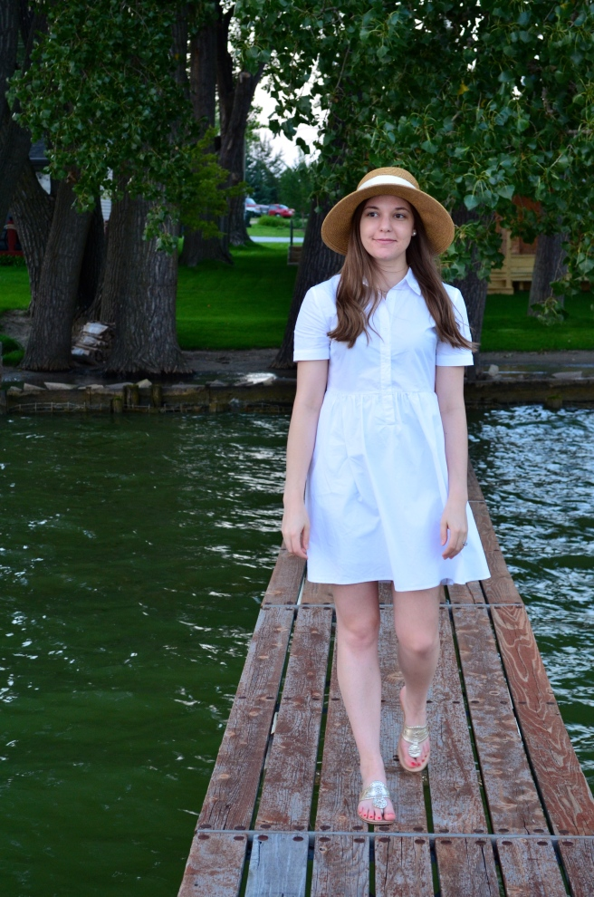 Date Night at the Lake: White Dress_0455