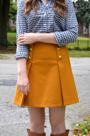 Gingham Blouse & Mustard Skirt_0642