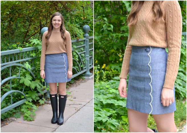 Sweater & Chambray Skirt