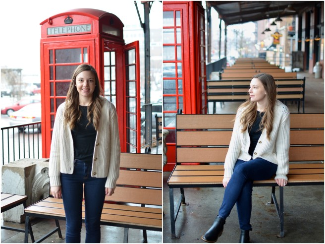Bow Boots & Cardigan-Red Phone Booth1
